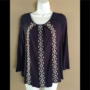 Lucky Brand Small Printed Blouse